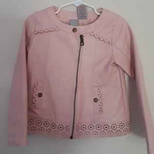 Tahari Toddler Faux Leather Jacket
